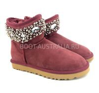 UGG & Jimmy Choo Jewelled Burgundy