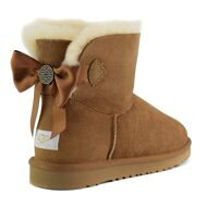 UGG Mini Bailey Bow Medallion Chestnut