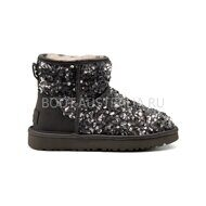 Угги мини UGG Sparcles Miracle Grey серые