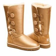 UGG Bailey Button Triplet Metallic Soft Gold