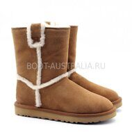 Угги UGG Short Spill Seam Boot Chestnut Рыжие
