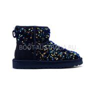 Угги мини UGG Sparcles Miracle Navy Синие