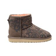 UGG Classic Mini Graffiti Sparkle Slate