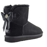 UGG Mini Bailey Bow Medallion Black