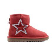 Угги мини UGG Classic Mini Sequins Red Красные