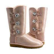 UGG Bailey Button Triplet Glitter Pink