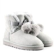 Угги мини Пом-Пом UGG Mini Gita Pom-Pom Grey Серые