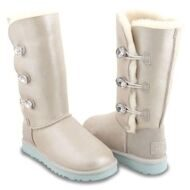 UGG Bailey Button Triplet I DO Угги с 3 кристалами Swarovski ® Crystal