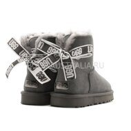 Угги мини UGG Mini Bailey Bow Customizable - Seashell Charcoal