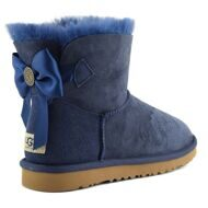 UGG Mini Bailey Bow Medallion Navy