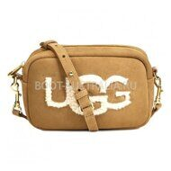 Сумка UGG Australia Janey Sheepskin Crossbody Chestnut Рыжая