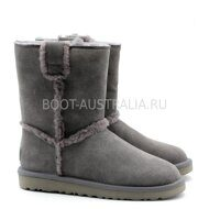 Угги UGG Short Spill Seam Boot Grey Серые