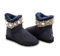 Угги Мини с бусами синие UGG Australia Mini Jewelled Navy