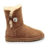 UGG Bailey Button Bling Chestnut