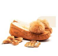 Мокасины UGG Moccasins Dakota New Pom Chestnut рыжие